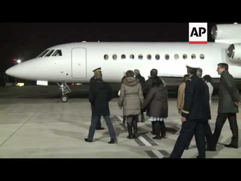 Francis Collomp arrives back in France after being held hostage in Nigeria for 11 months