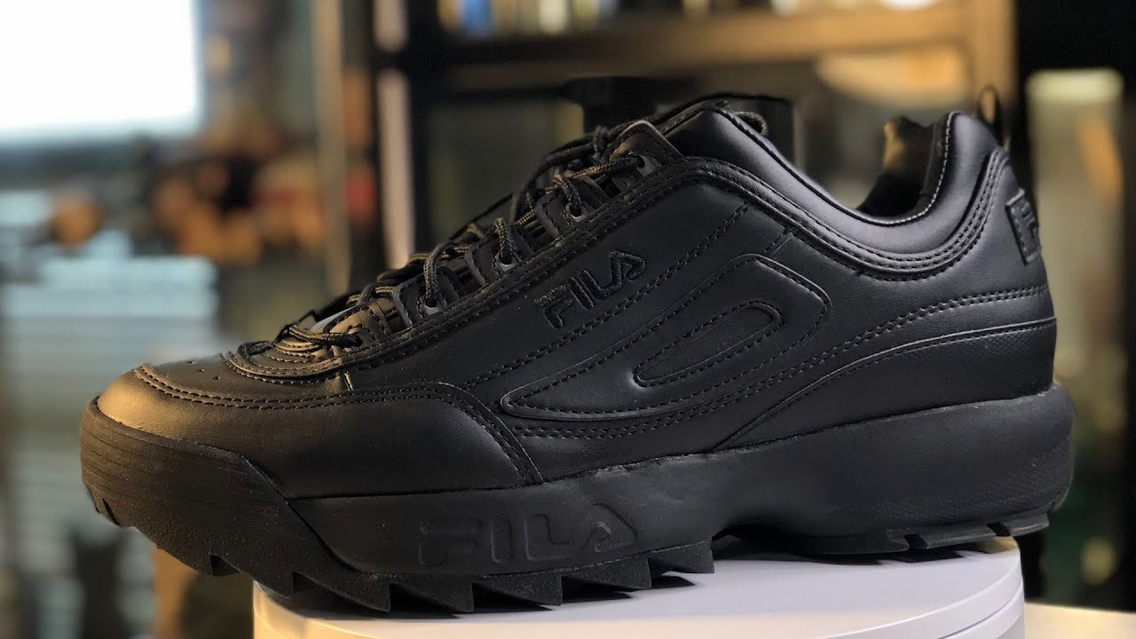 09bfa82e6048 FILA DISRUPTOR II (2) TRIPLE BLACK is Just Sick    Unboxing