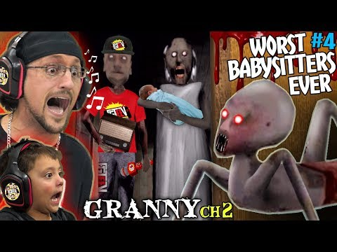 DON'T LET GRANNY BABYSIT YOUR KIDS! + Grandpa is a FGTeeV Fan! (Granny Chapter 2 Update)