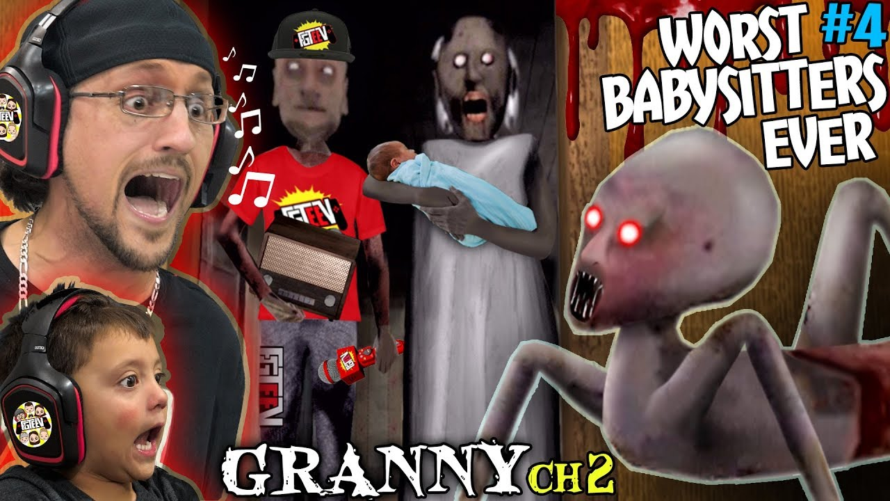DONT LET GRANNY BABYSIT YOUR KIDS! + Grandpa is a FGTeeV Fan! (Granny Chapter 2 Update)