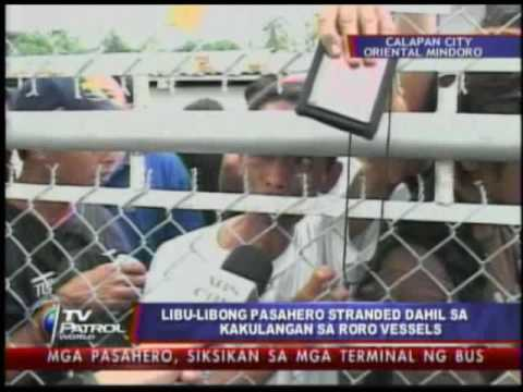 Thousands of passengers stranded in Calapan City