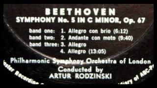 Beethoven / Artur Rodzinski, 1954: Symphony No. 5 in C Minor, Op. 67 - Andante con moto