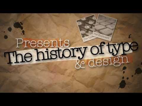The History of Type - Mock Up Title Design Frame