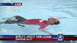 World's largest swim lesson taking place at Hurricane Alley