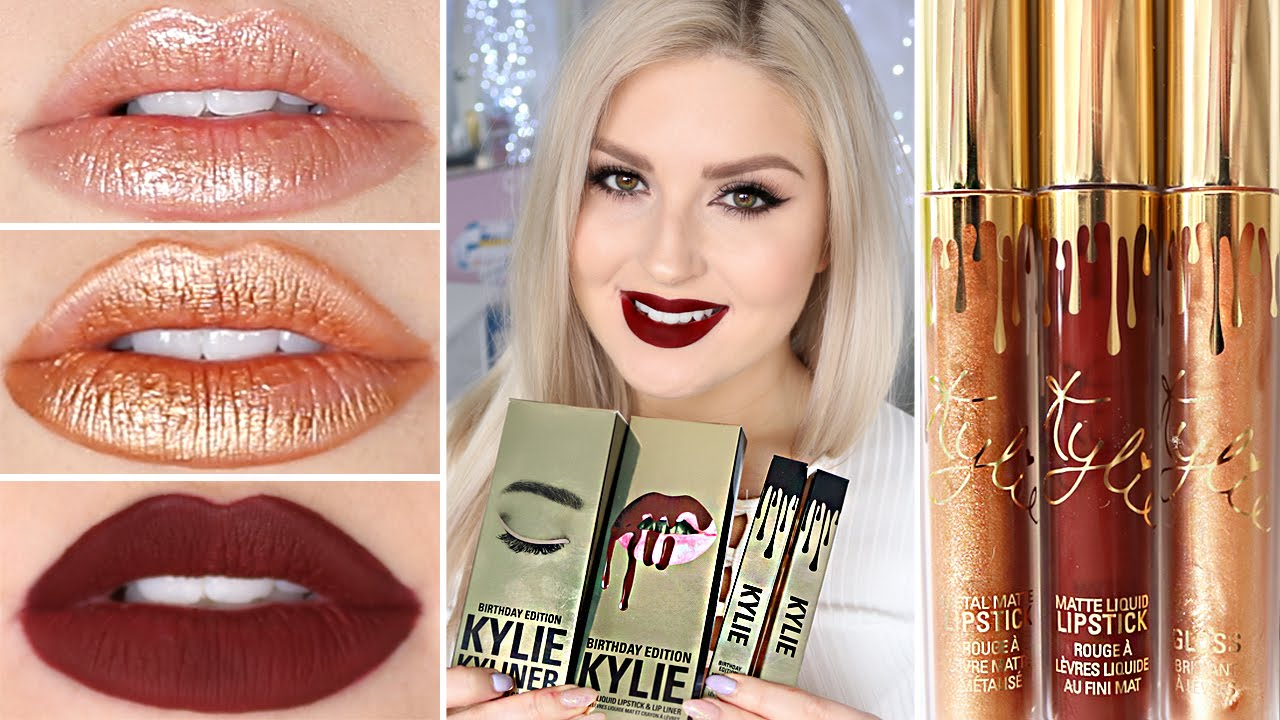Kylie Cosmetics Birthday Collection ♡ DUPES, Swatches & Review