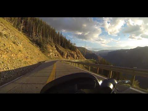 Vista Point on Beartooth Mountain to Red Lodge Montana.