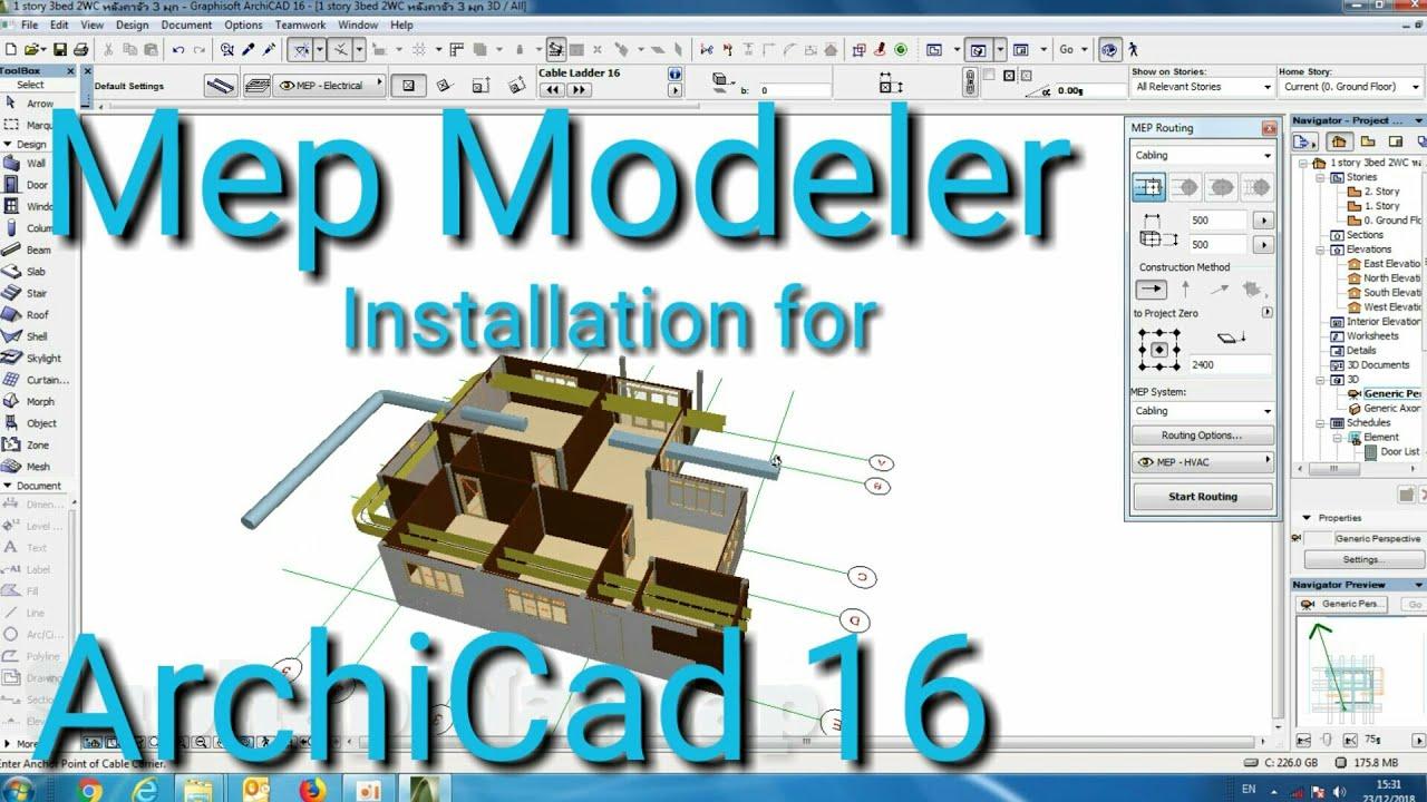Mep Modeler Installation for ArchiCad 16