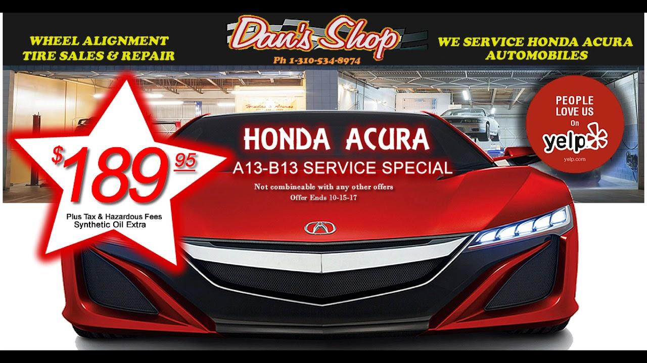 Acura Honda Lexus Nissan Toyota Tune Up Torrance South Bay Carson Gardena  Harbor City