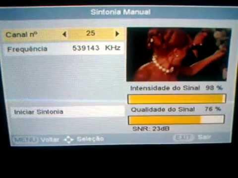 TV Digital Terrestre Salvador. Nível e Qualidade de Sinal. 25/Ago/2012