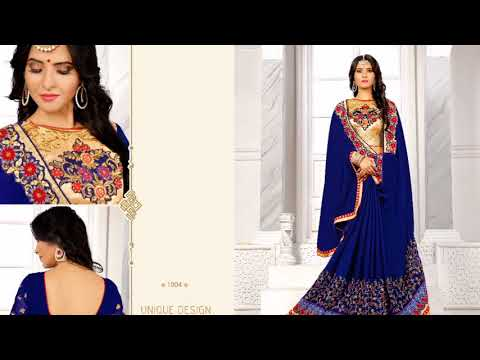 Richmond Fabric With heavy embroidery saree and work BLOUSE.... BY AJMERA FASHION