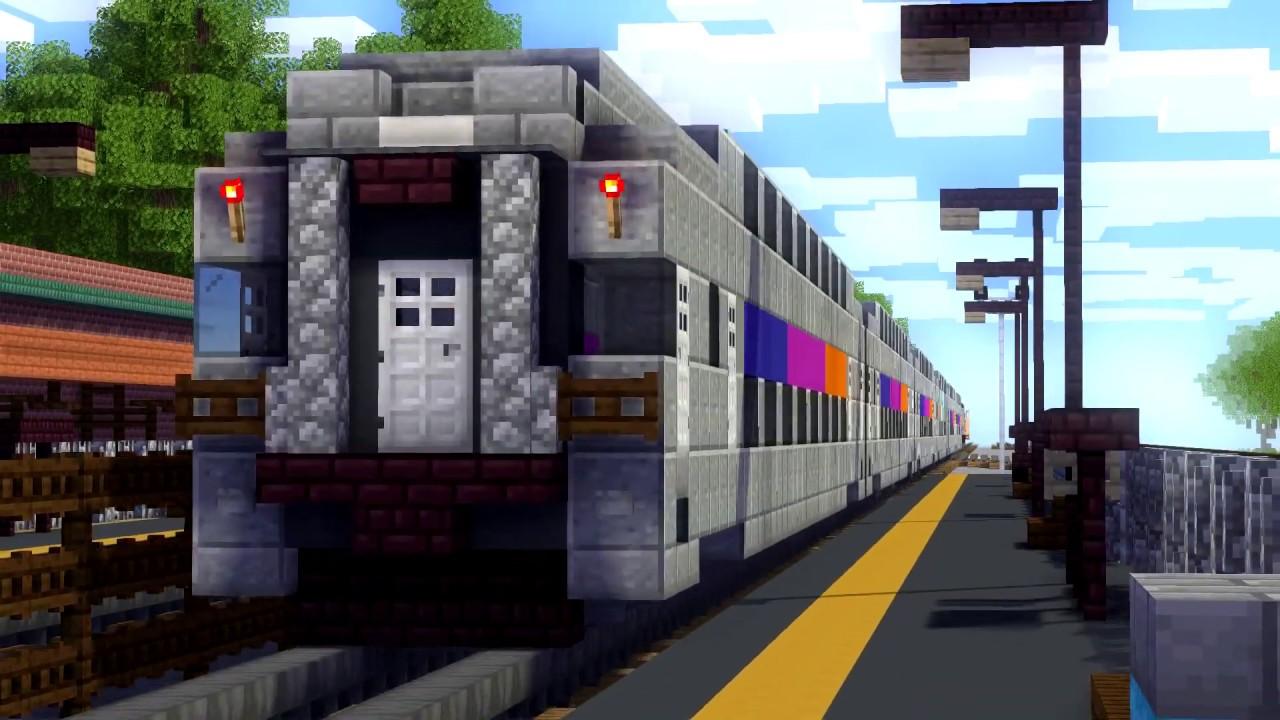Minecraft NJT NS CSX Bound Brook Train Animation - YouTube