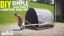 How To Build a Portable Livestock Shelter for goats, cows, sheep, pigs or chickens