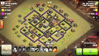 TH8 3* Cold Blooded Asian Wall GoHo - Clash of Clans (CLEANUP)