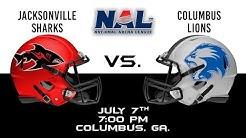 Jacksonville Sharks vs Columbus Lions