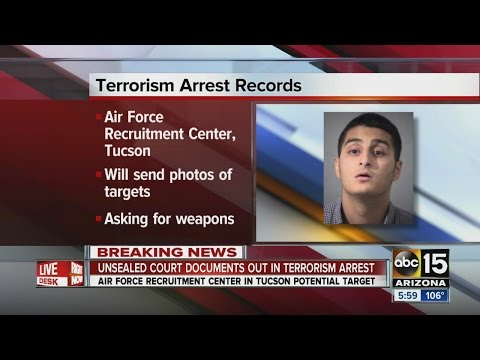 Court documents unsealed in AZ terror case