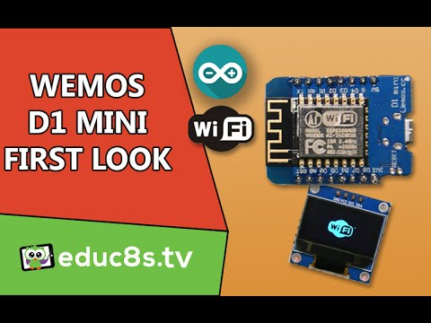 Wemos D1 mini: A first look at this ESP8266 based board from Banggood com!