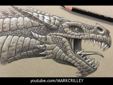 Drawing Time Lapse: Dragon's Head