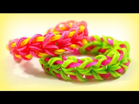 diy ideen rainbow loom bands b nder deutsch armband. Black Bedroom Furniture Sets. Home Design Ideas