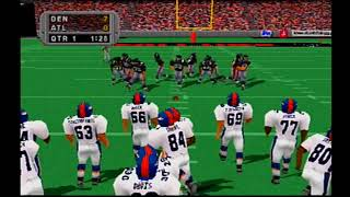 Madden NFL 99 PlayStation Denver Broncos vs Atlanta Falcons