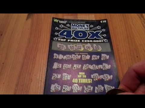 40x Money multipier, Irish national lottery scratchcard - #136