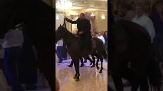 Ворвался на свадьбу на лошади в КЧР