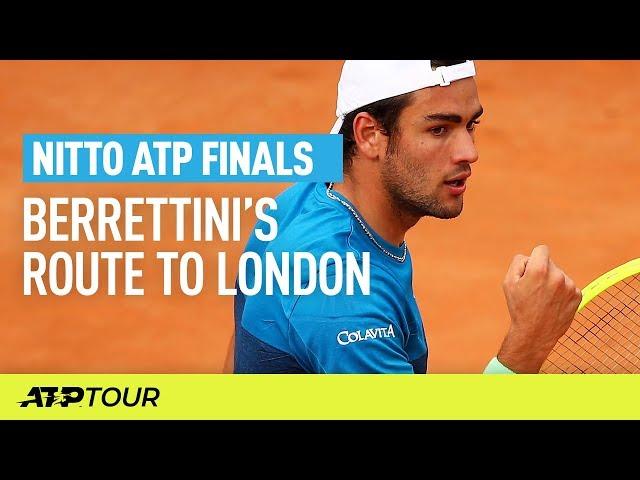 Berrettini's Route To London | Nitto ATP Finals | ATP
