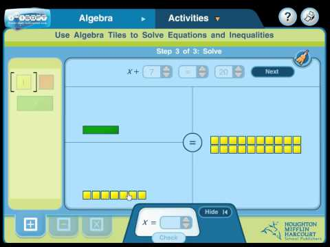Use Algebra Tiles to Solve Addition Equations - YouTube