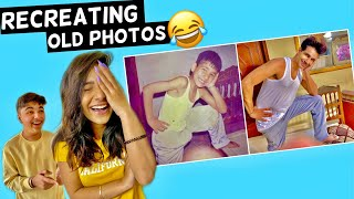 RECREATING OLD PHOTOS Challenge Part 2 | Rimorav Vlogs