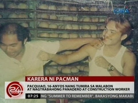 Pacquiao, 16-anyos nang tumira sa Malabon at nagtrabahong panadero at construction worker