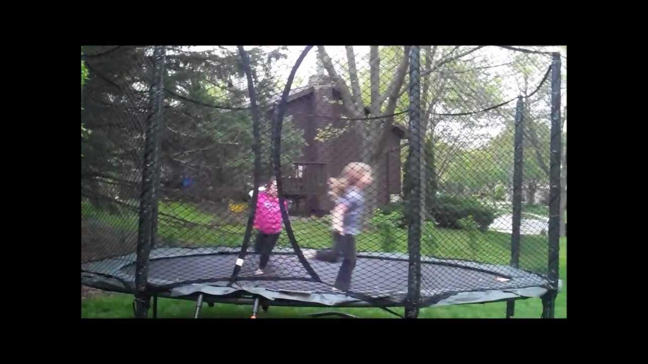 jumpsport alleyoop sports variablebounce trampoline review youtube