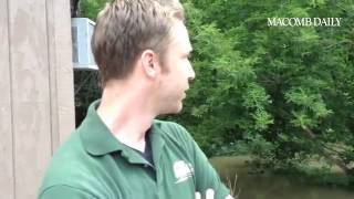Adam Blumerick of Kuppe Landscape Service on Cass in Clinton Twp on flooding off Clinton River's mid(, 2014-08-12T22:25:36.000Z)