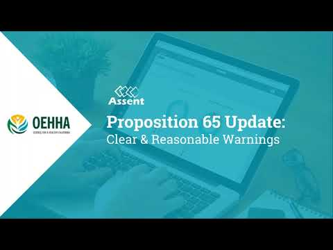 [Webinar] Proposition 65 Update: Clear and Reasonable Warnin