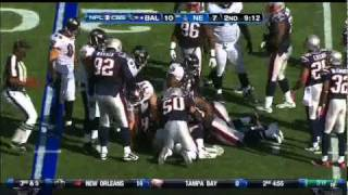 Brandon Spikes; Week 6 vs Baltimore Ravens