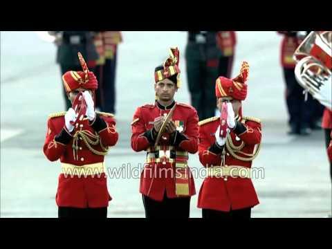 Indian Defence bands play 'Vande Mataram'