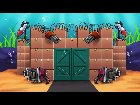 Minecraft   BOX FORT + OCEAN = UNDERWATER BOX FORT CHALLENGE! (Secure Base)