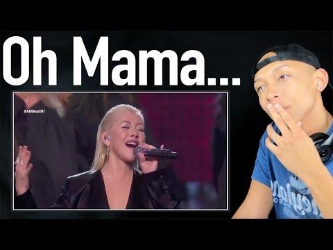 Christina Aguilera - Whitney Houston TRIBUTE  AMAs   REACTION