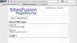 Upload HTML Pages to Google Sites - PageSource