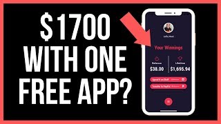 How I Made $1700 With One Awesome App! (The Best Money Making App That Pays You!)