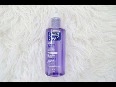 NEW Clean & Clear Soothing Eye Makeup Remover Trial & Thoughts Review