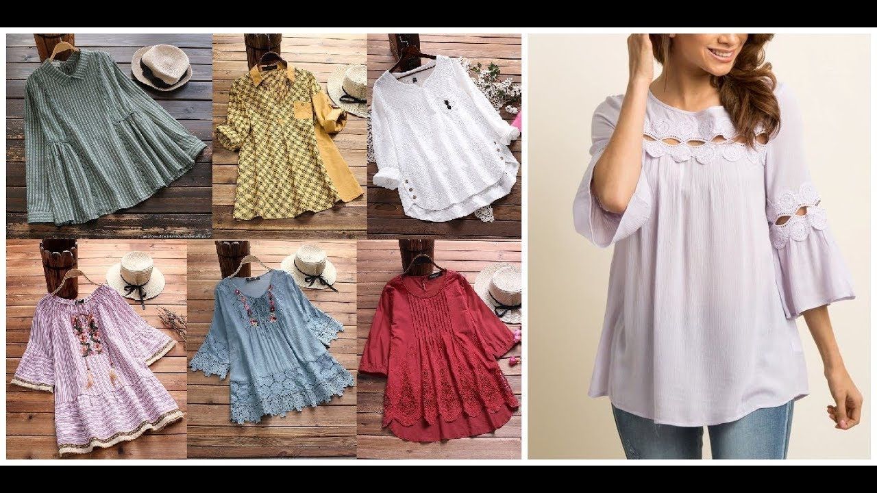 Casual Cotton Summer Tops And Blouse Design Ideas 2019-20