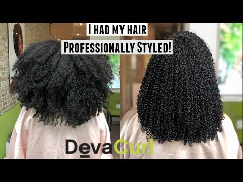 We Visited A DevaCurl Salon| Styling, sister's DevaCut, + More!| Natural Hair