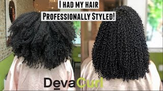 We Visited A DevaCurl Salon| Styling, sister's DevaCut, + More!| Natural Hair