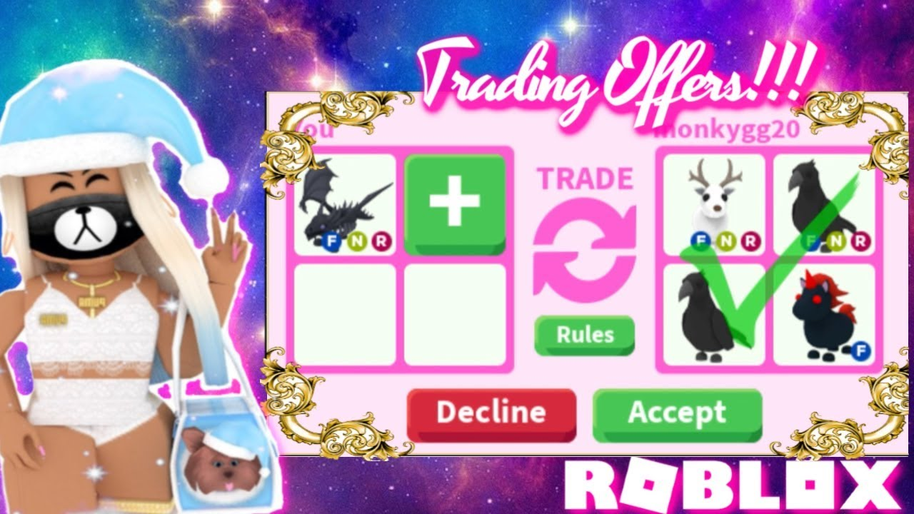 What People Trade For Neon Shadow Dragon Roblox Adopt Me Youtube