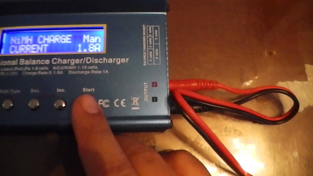How To Charge A Ni Mh 72v 6xsc 1800mah With The Imax B6ac Dual Rc B6 Pro Professional Multifunctional Balance Charger Power