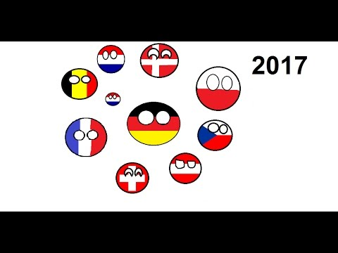 Countryballs - All states next to Germany since 1500
