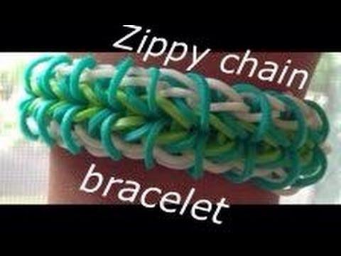 How To Make The Zippy Chain Rainbow Loom Celet