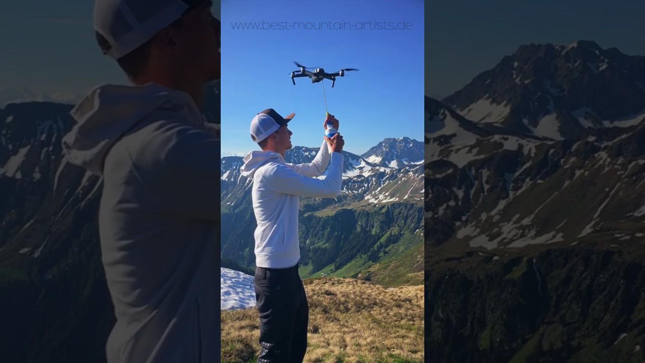 Getränke Lieferung mit Drohne in den Alpen | nie mehr durstig beim ...