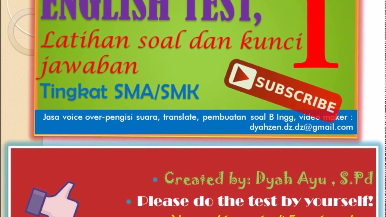 Dyah Ayu Latihan Soal Bhs Inggris Toefl Toeic Dan Kunci Jawaban