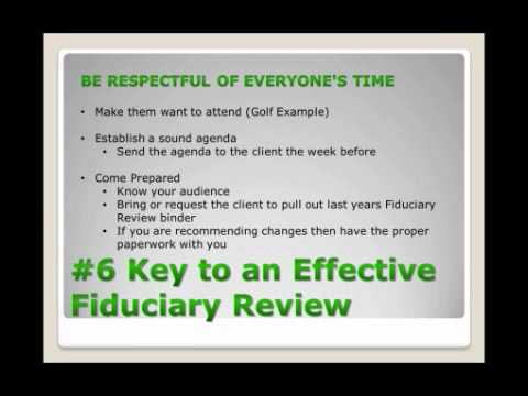 6 Keys to an Effective Fiduciary Review