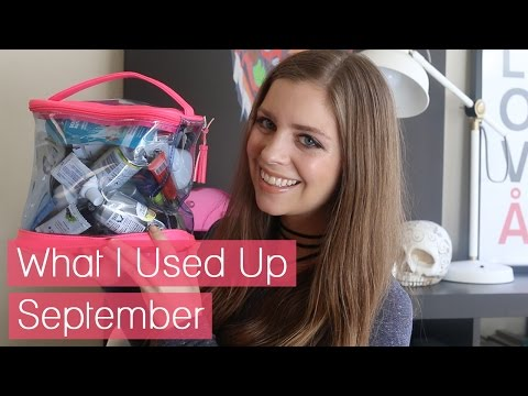 What I Used Up // September Product Empties